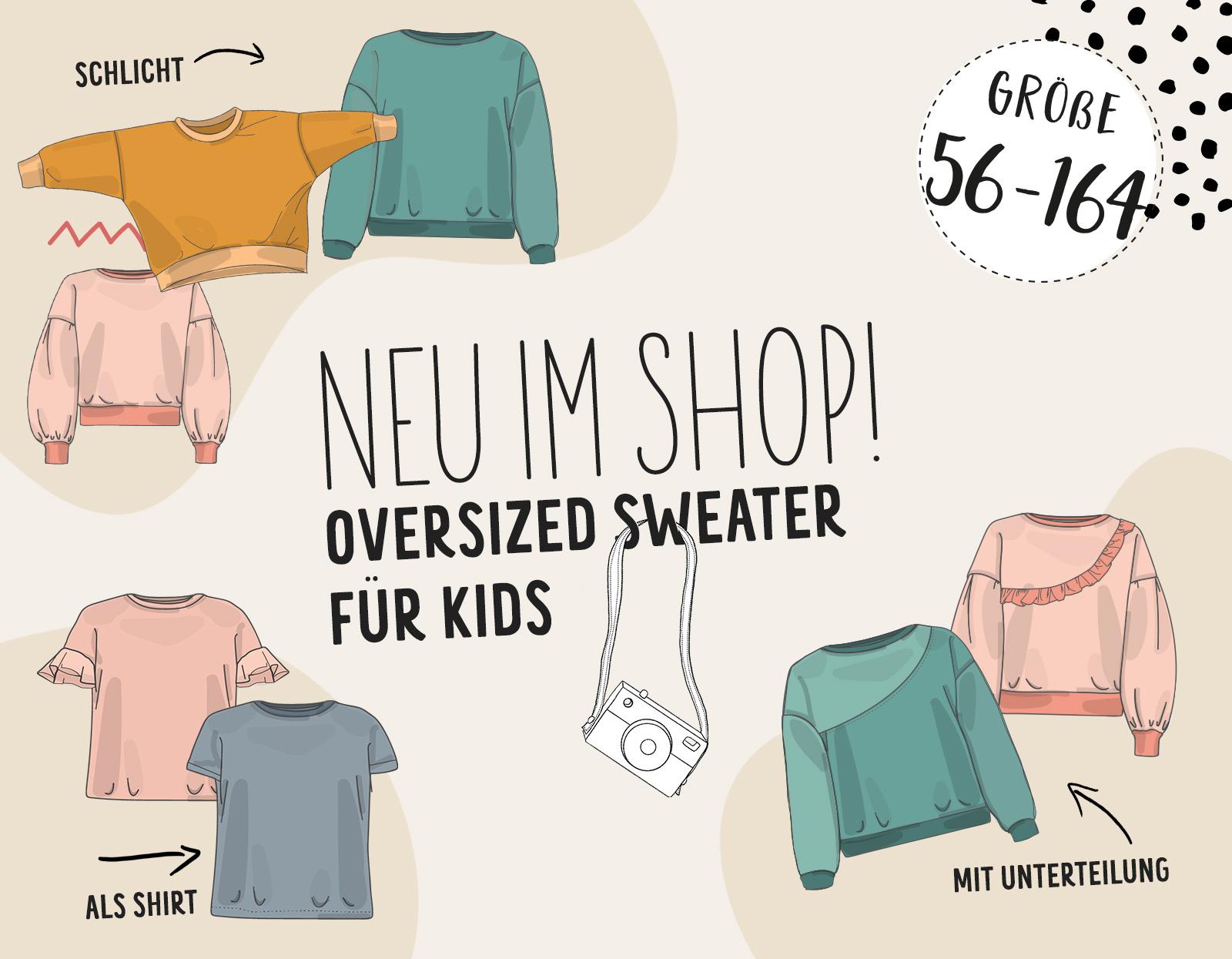 NEU: Der Oversized Sweater für Kids!