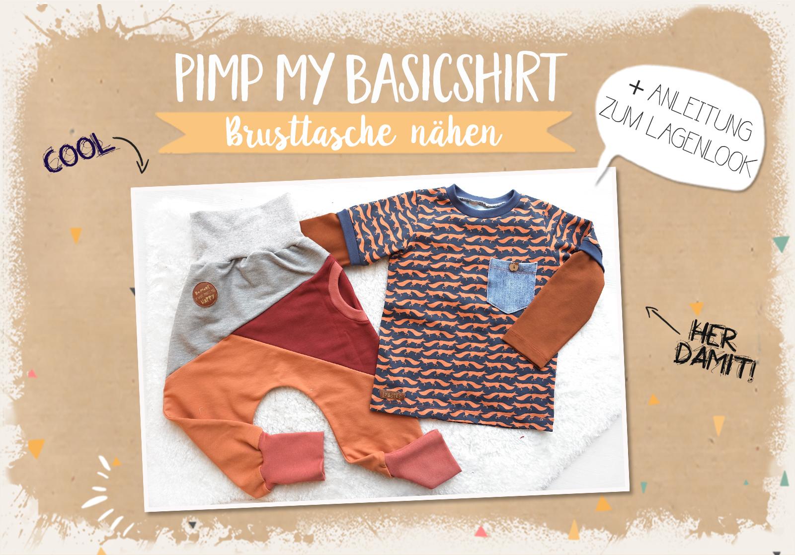 Pimp my Basicshirt 3/4: Brusttaschen nähen & Lagenlook