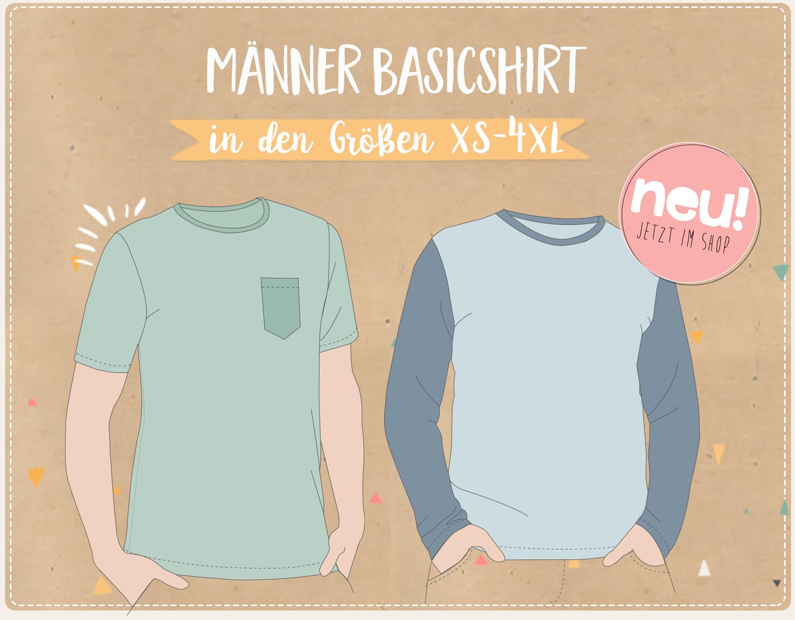 NEU: Das Basicshirt für die Männer (XS - 4XL)!