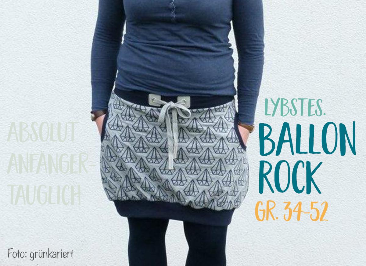 Ballonrock für die Großen! Schnittmuster jetzt im Shop erhältlich ...