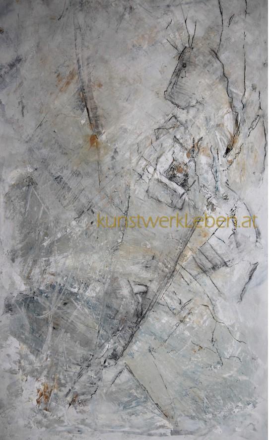 IN DER STILLE, Acryl auf Leinwand, 50cm breit x 100cm hoch