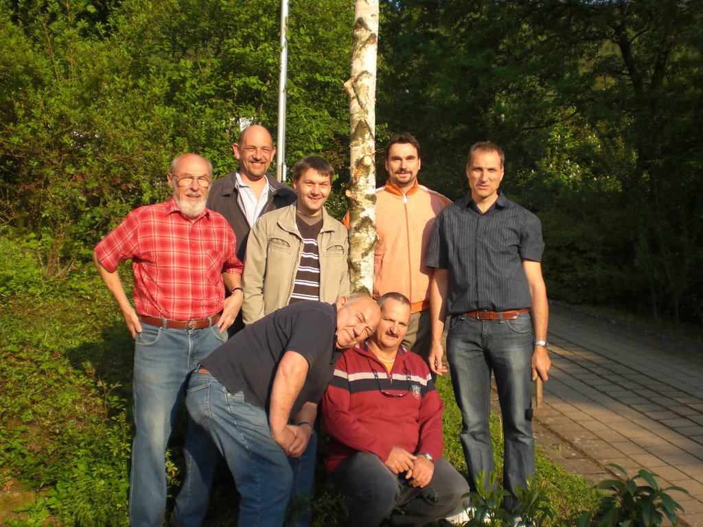 v.l. Horst, Michael, Markus, Klaus, Frank. v. Hermann, Theo