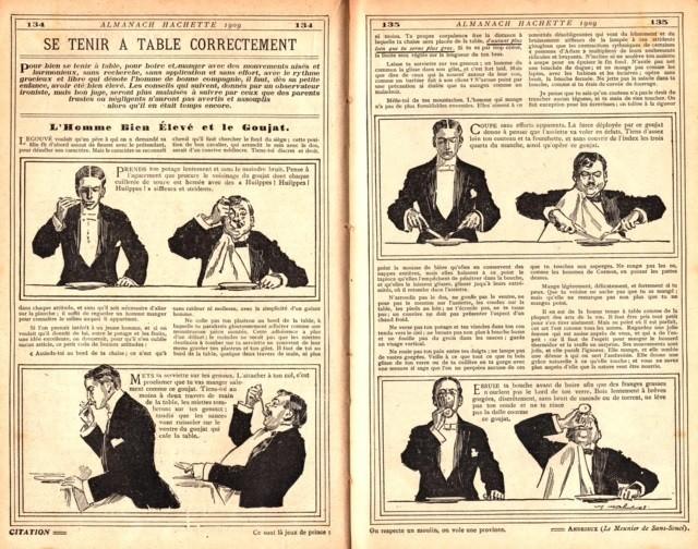 Pour 2016, prendre les bonnes résolutions pour vivre de bons moments gourmands. Pages de l'Almanach Hachette 1929.
