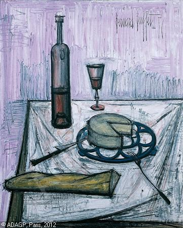 Bernard Buffet-Nature morte au fromage