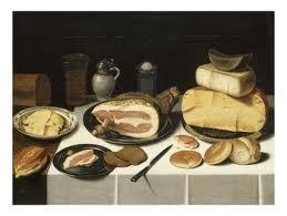 Van Schooten- Nature morte au jambon et aux fromages -