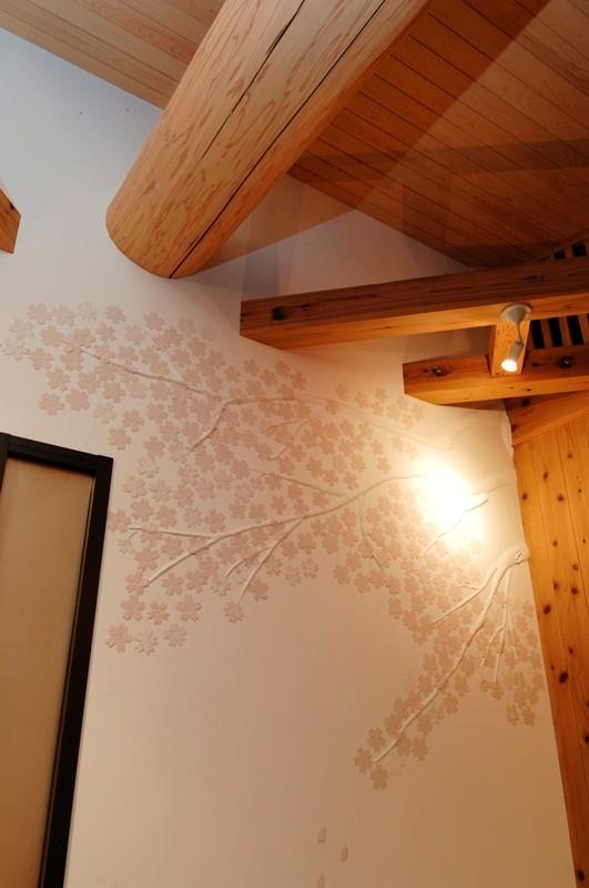 漆喰鏝絵「桜」
