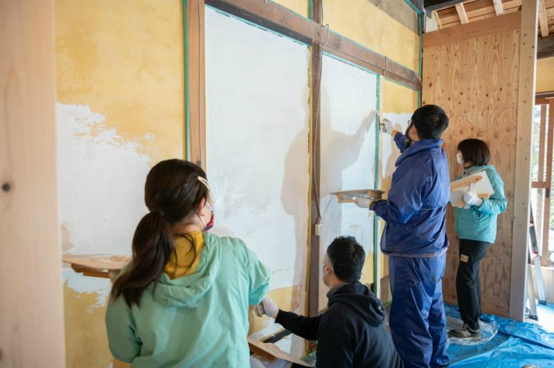 DIY漆喰塗り体験