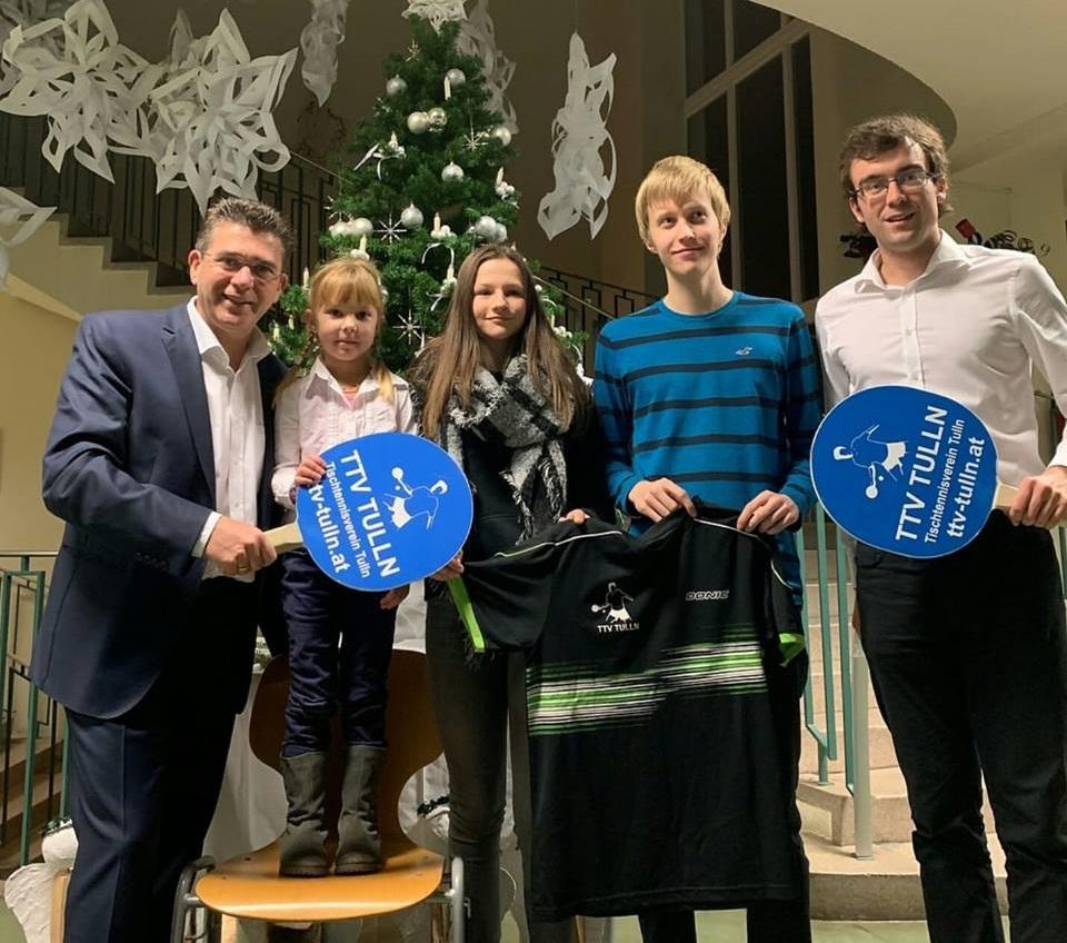 Weihnachtsfeier mit Bürgermeister Peter Eisenschenk