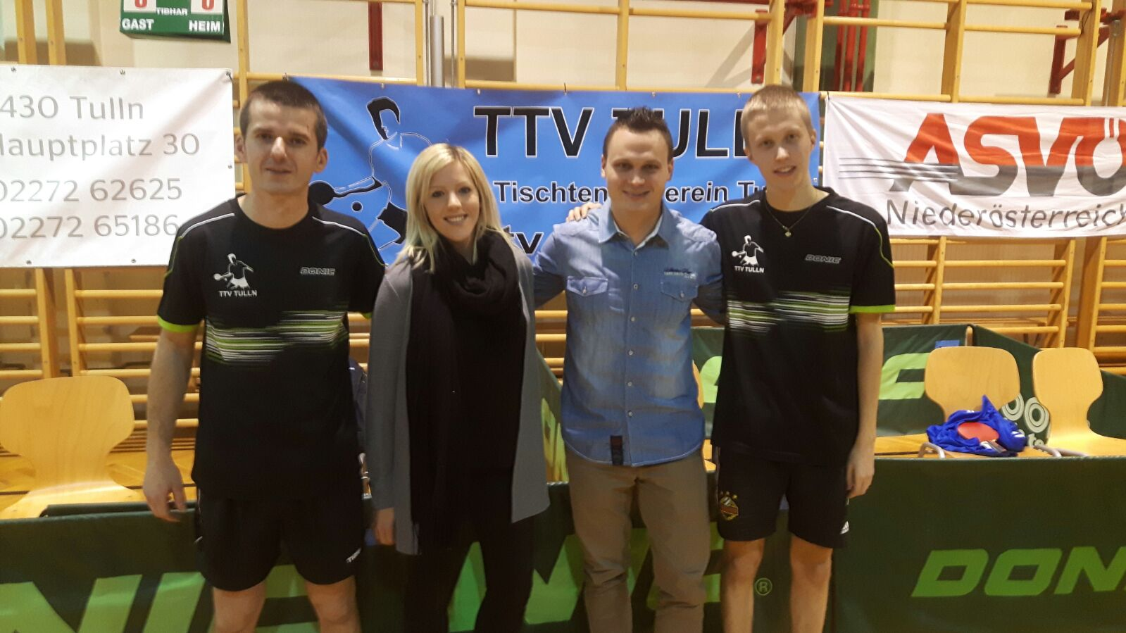 Martin Gasnárek, Kerstin Stoiber, Andreas Bors und Andi Hammerschmid