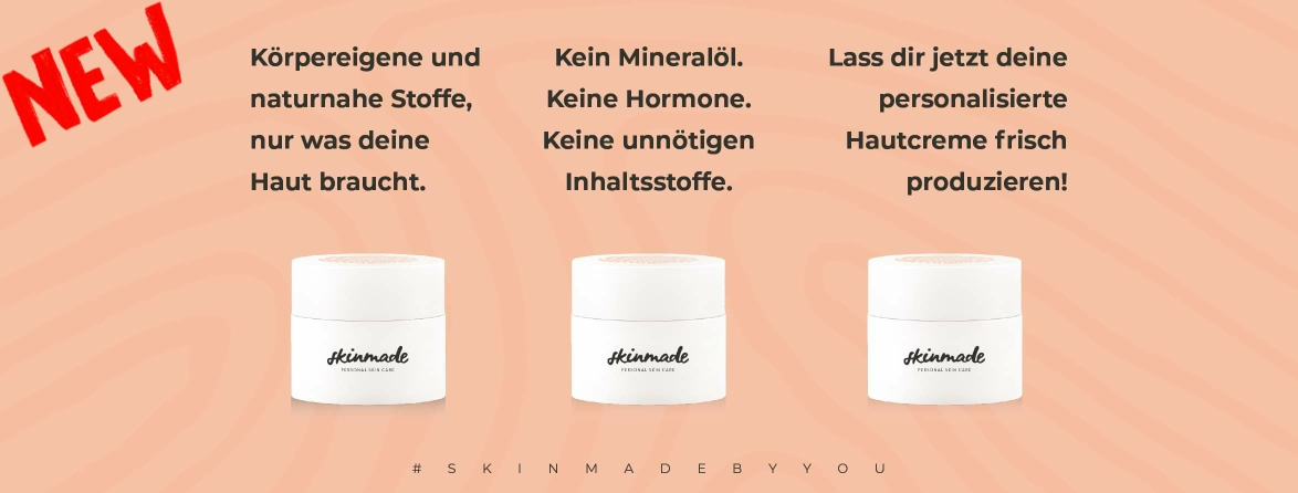 Skinmade Kiel personalisierte Hautcreme, Naturkosmetik