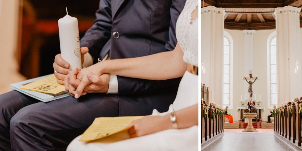 Bild: Braut und Bräutigam Trauung Hochzeit Hochzeitsreportage Hochzeitsfotos Hochzeitsfotograf Kirche Templin