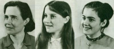 Von links: Dagmar, Petra und Marina Alexander Quelle: Der Spiegel, Heft 14/1972, S. 92