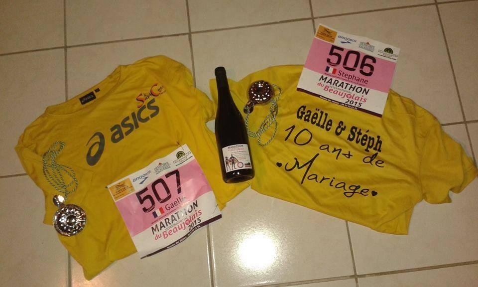 NOVEMBRE 10 ans de mariage et le marathon du BEAUJOLAIS