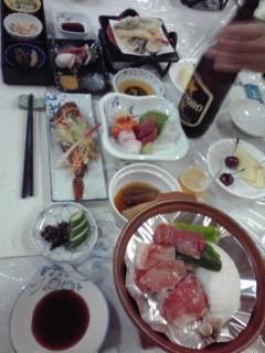 山田屋ホテルの豪華夕食