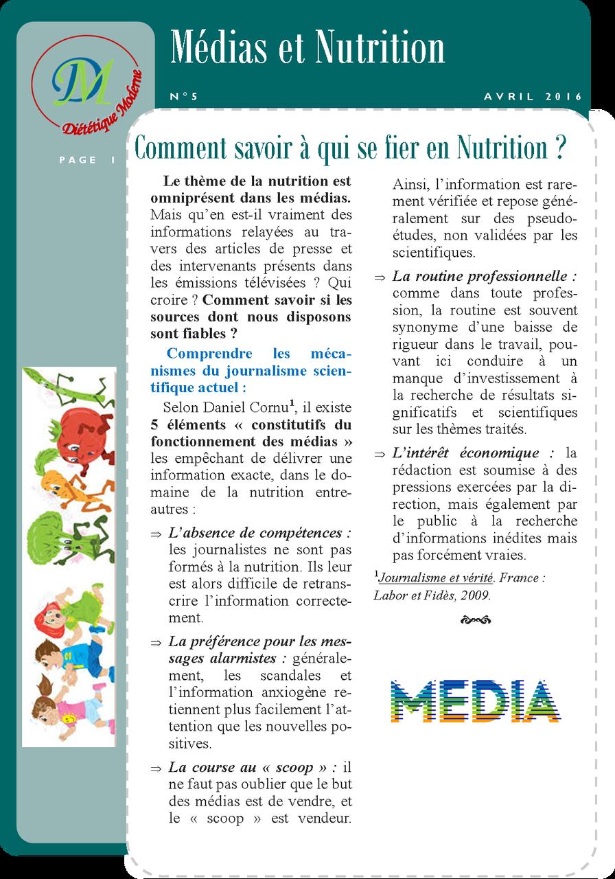 Médias et Nutrition page 1/2