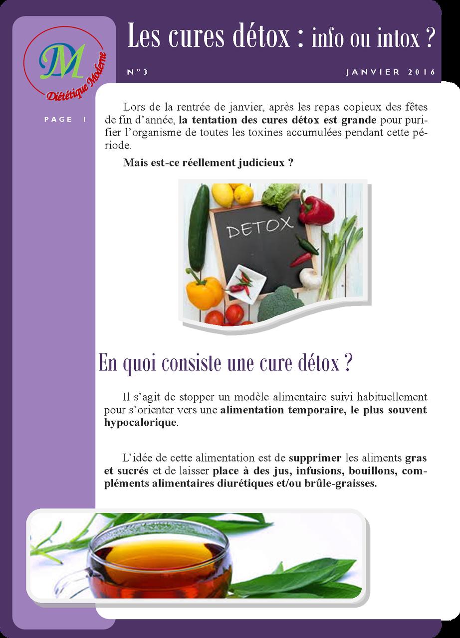Les cures détox : info ou intox ? page 1/2