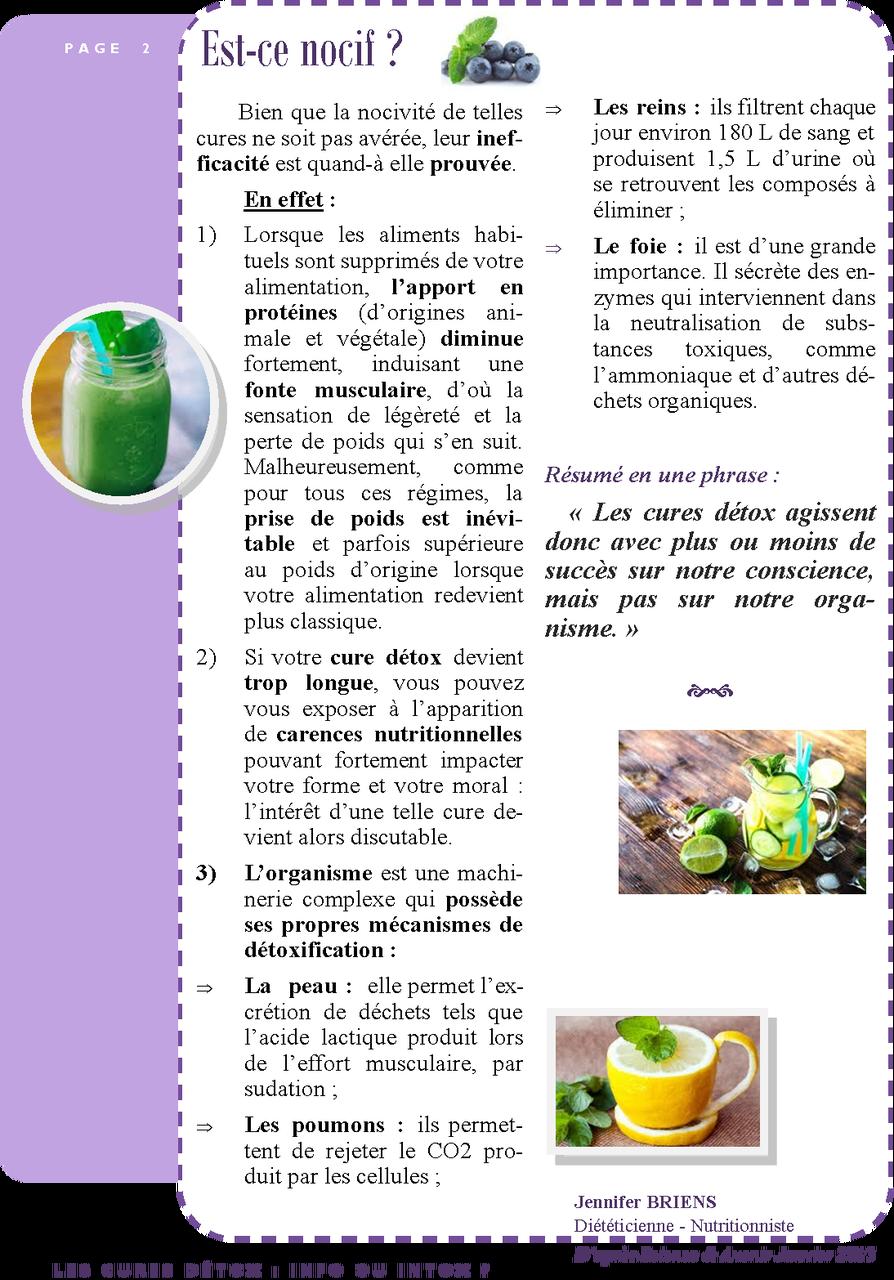 Les cures détox : info ou intox ? page 2/2