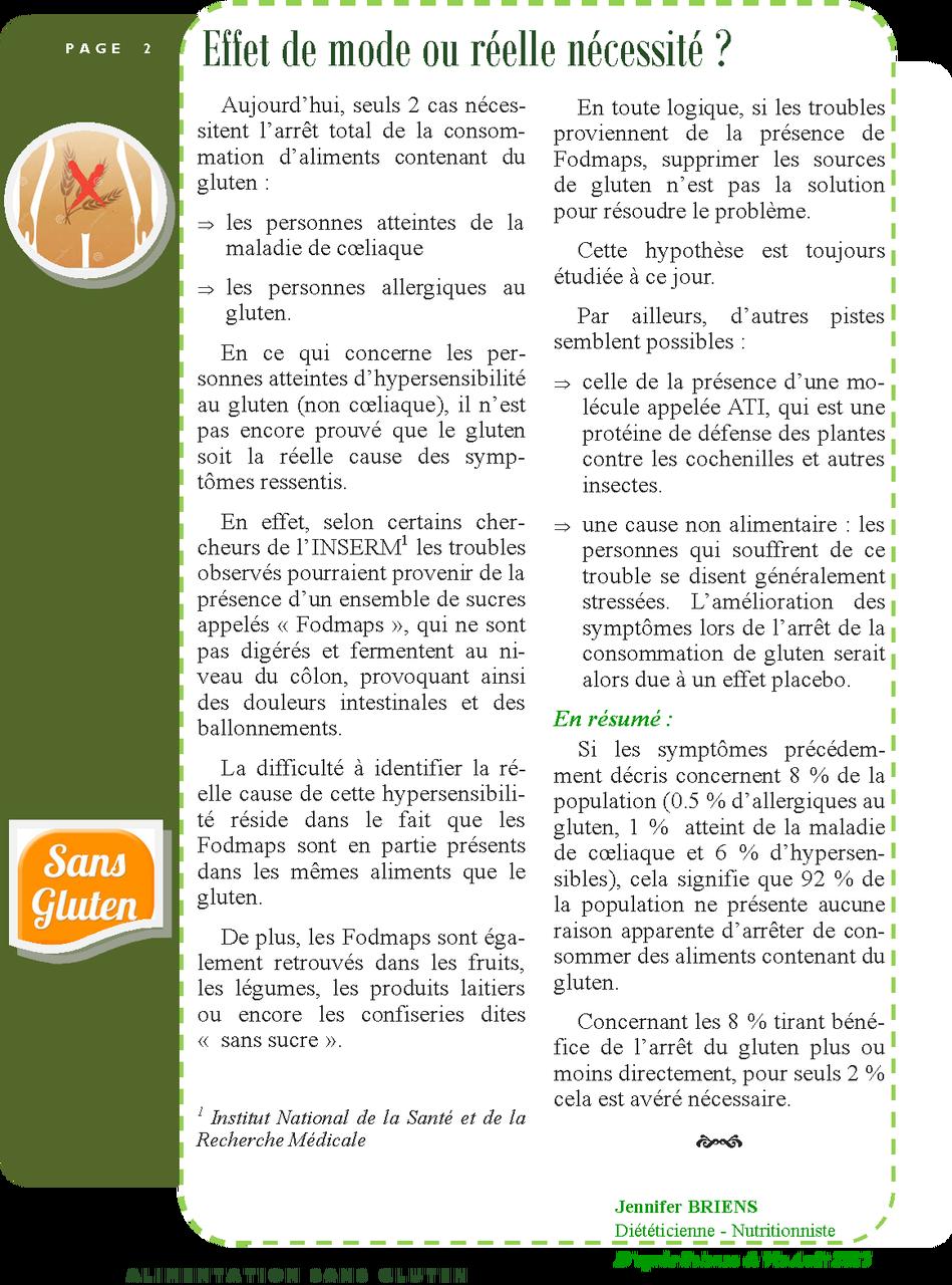 Alimentation sans gluten page 2/2
