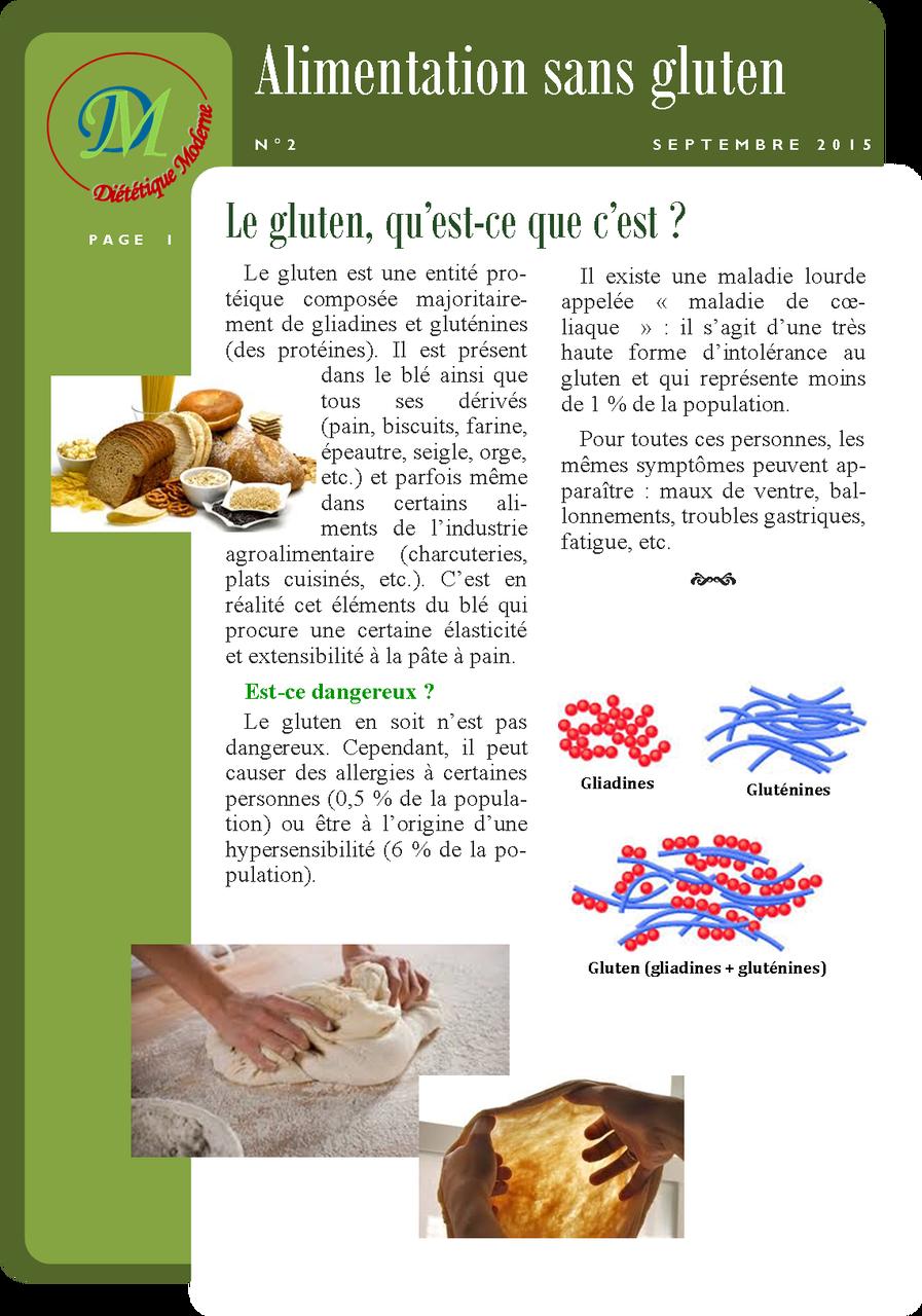 Alimentation sans gluten page 1/2