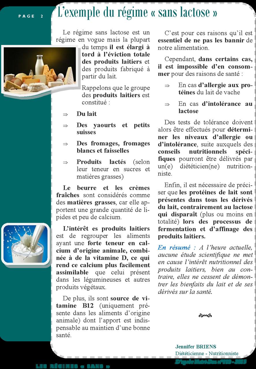 """Les régimes """"sans"""" page 2/2"""