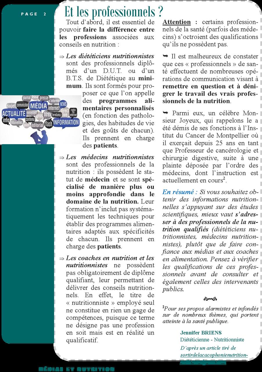 Médias et Nutrition page 2/2