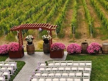 Ort für eine Feier im Weinberg