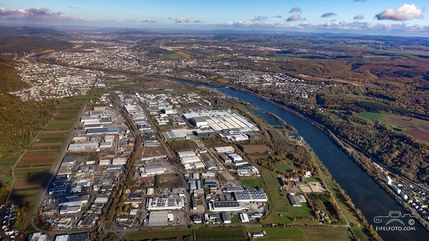 Luftbild: Industriegebiet Trier-Euren an der Mosel