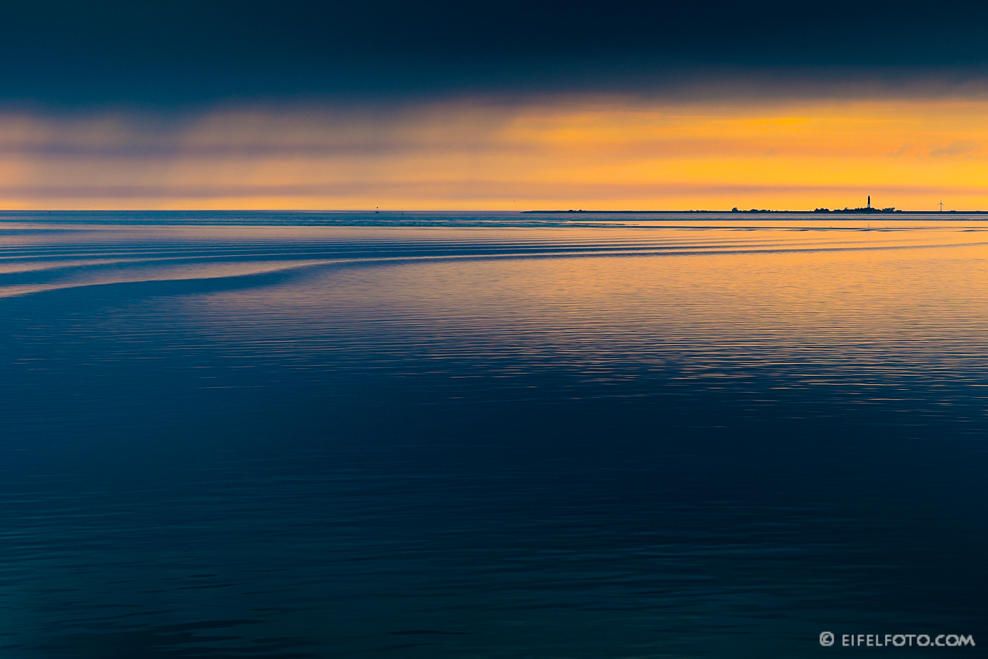 Die Ruhe vor dem Sturm im Nationalpark Wattenmeer vor Amrum.