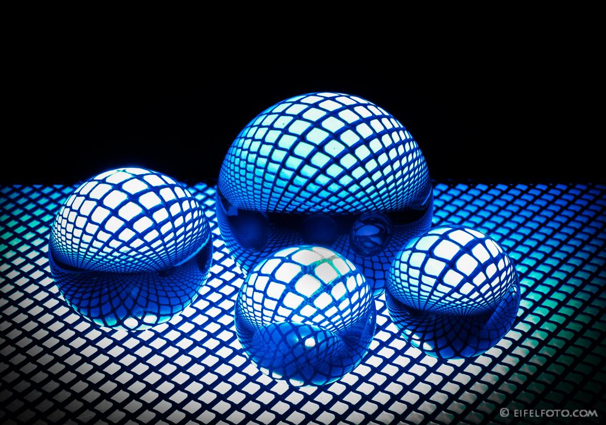 Blue Glass Beads