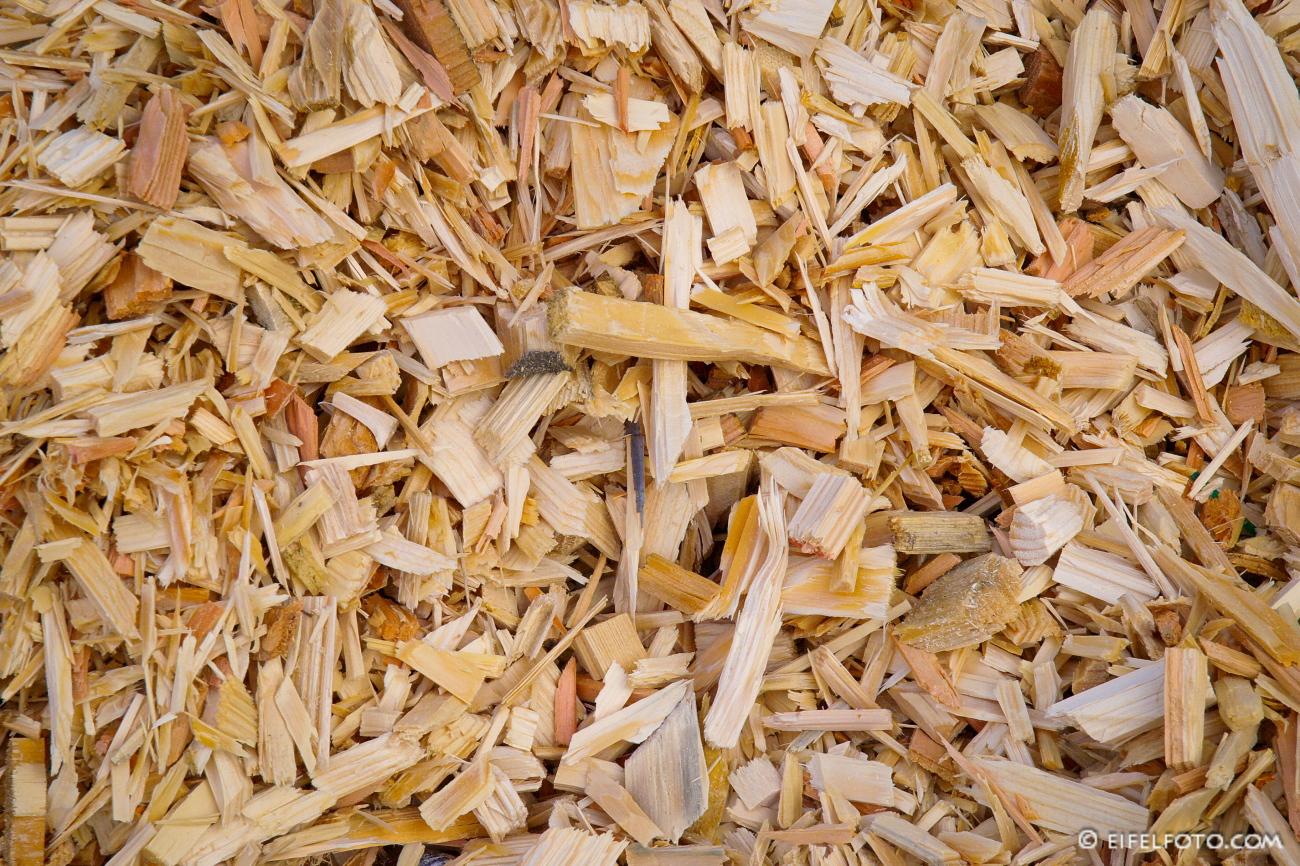 Holzschnitzel - natürlicher Brennstoff