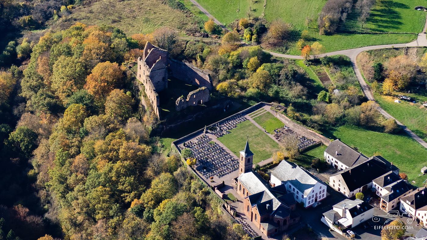 Die Ruine der Freudenburg im Landkreis Trier-Saarburg
