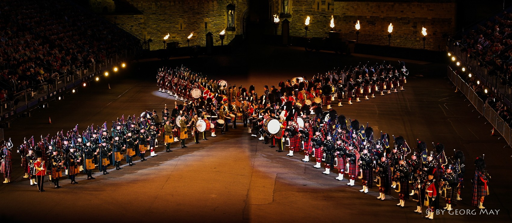 Military Tattoo im Castle of Edinburgh, Schottland