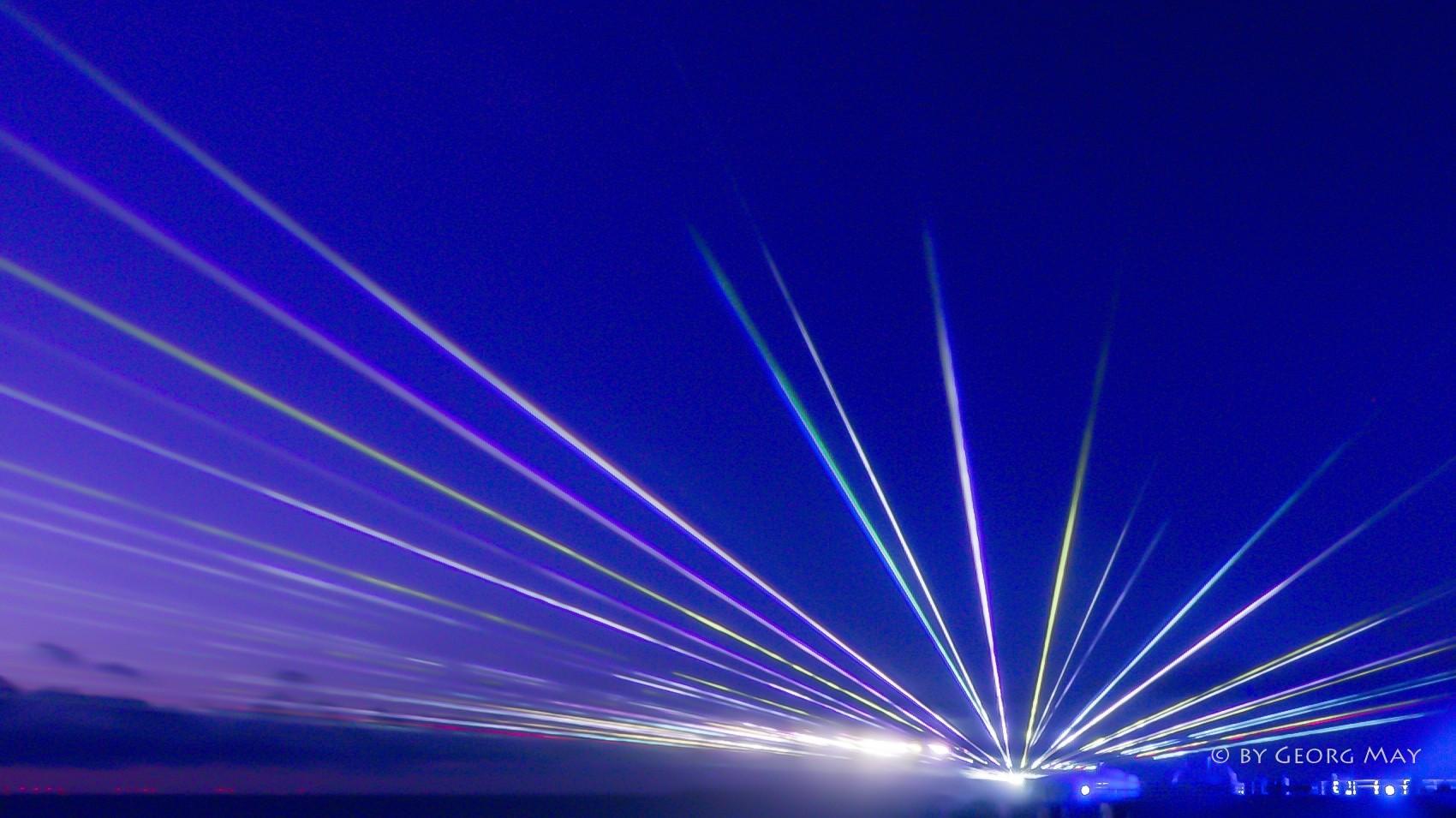 Lichtertanz der Elemente am Strand von Zingst, Ostsee