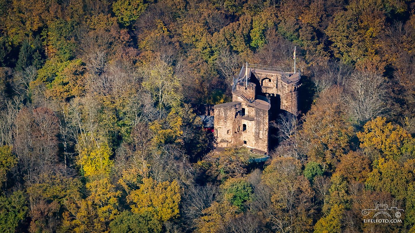 Burg Montclair, Luftbild
