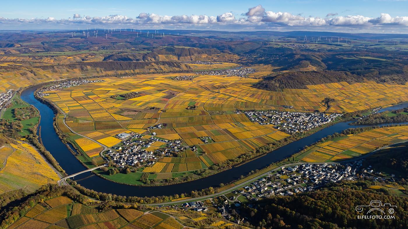 Luftbild: Das Moseltal bei Thörnich