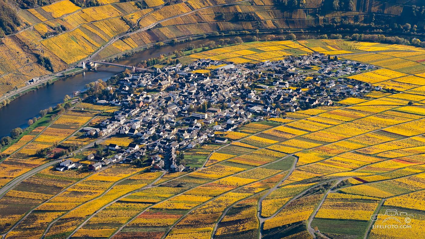 Luftbild:Trittenheim an der Mosel