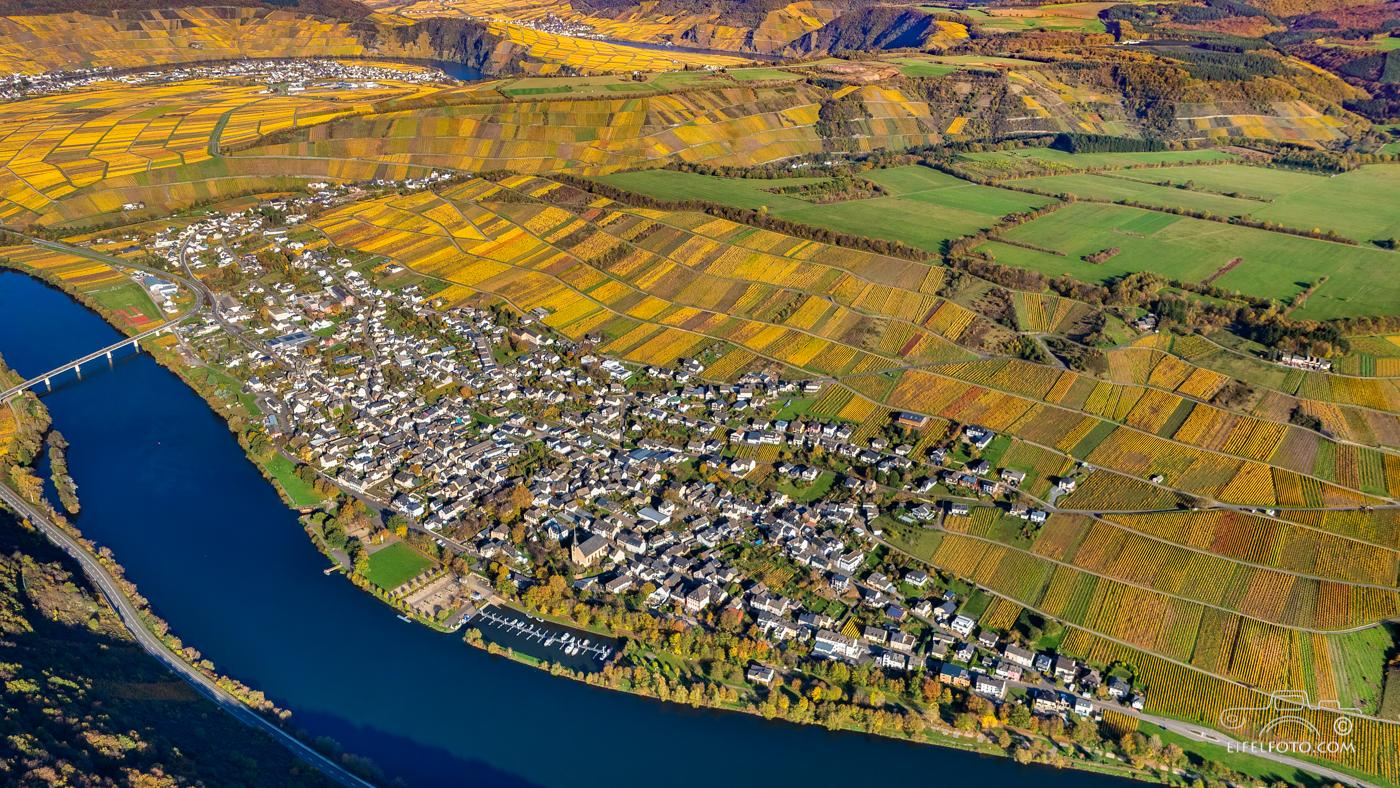 Luftbild: Neumagen-Drohn - ältester Weinort Deutschlands