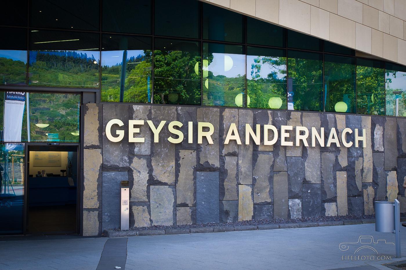 Geysir-Infozentrum in Andernach