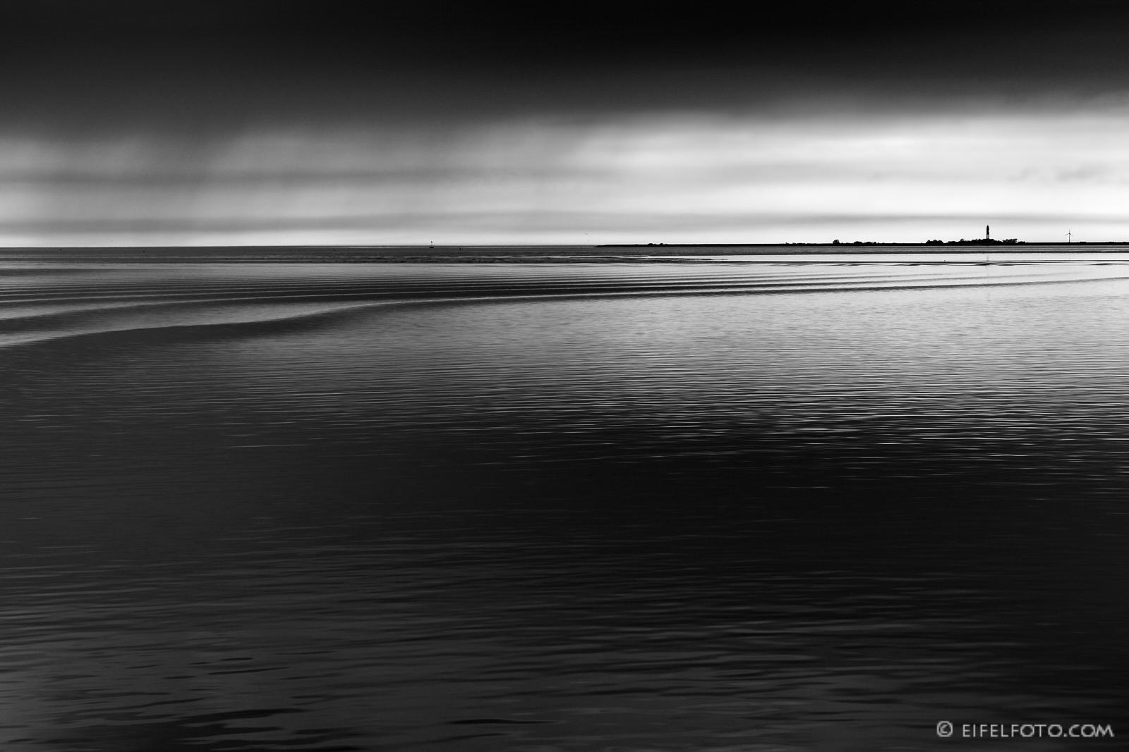 Nationalpark Wattenmeer vor der Insel Amrum