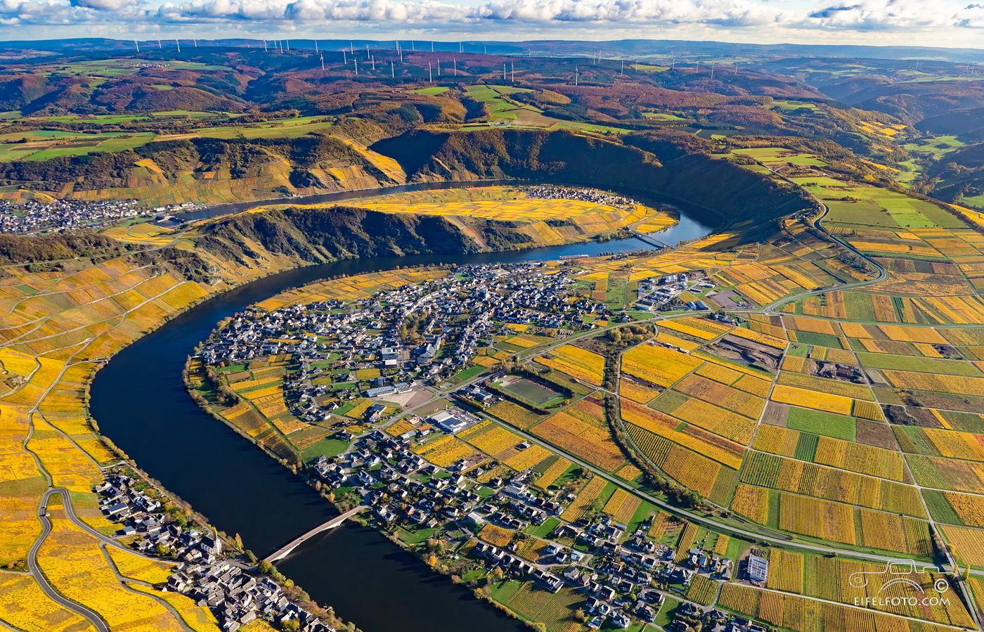 Luftbild: Die Weinorte Piesport und Niederemmel