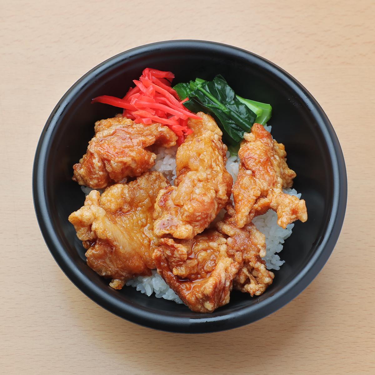 唐揚げ丼(⽢ダレソース) 580円