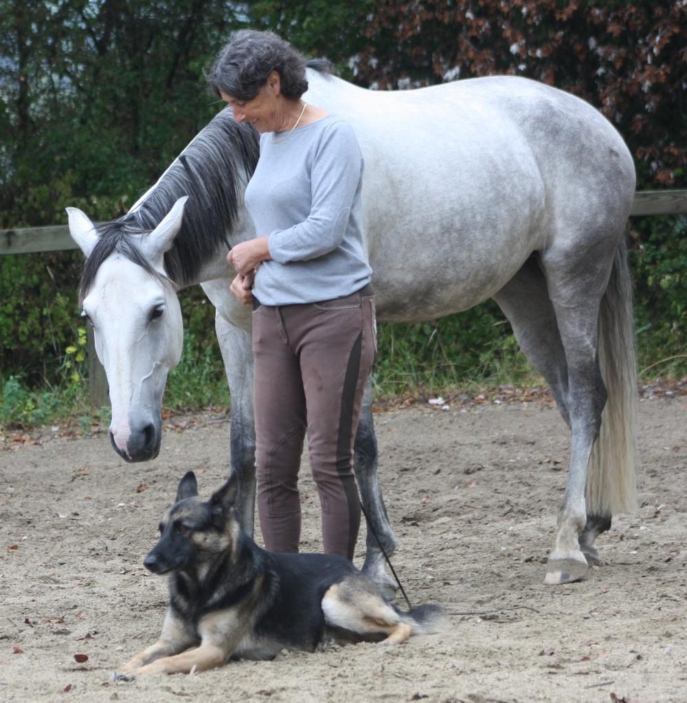 Finura, Fragon( le chien ) et  Marie Hélène