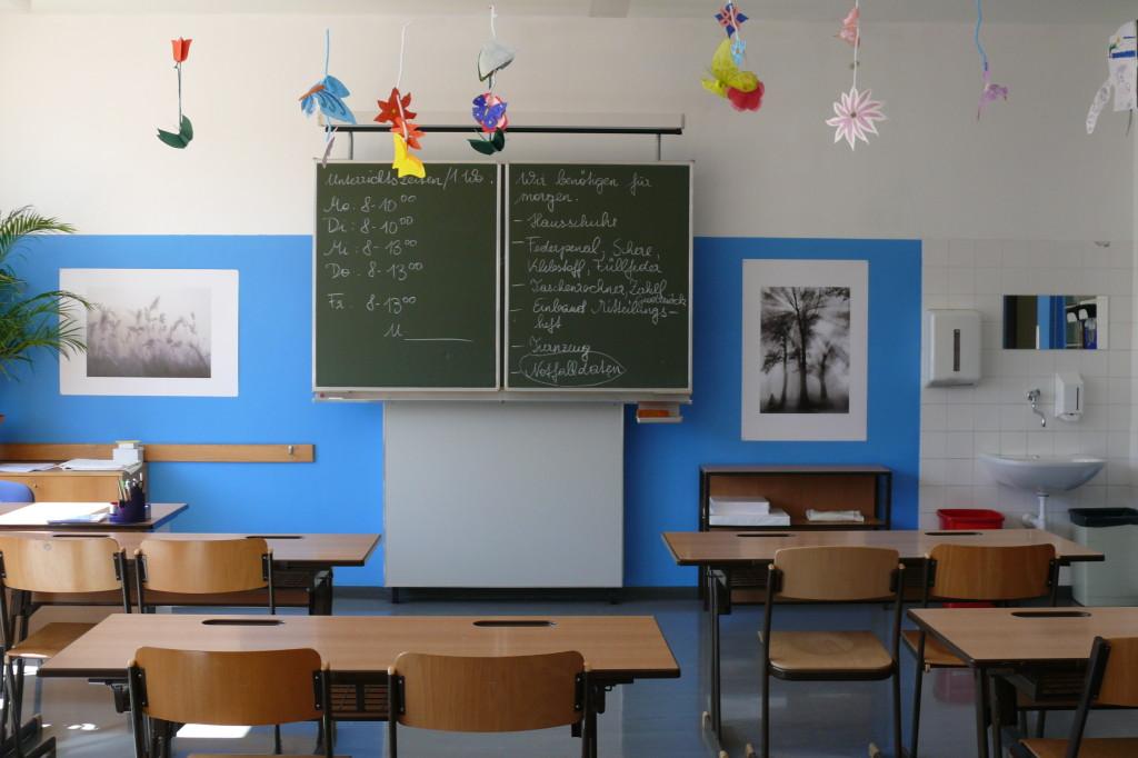 Diese haben die Schüler letztes Schuljahr selbst renoviert und ausgemalt.