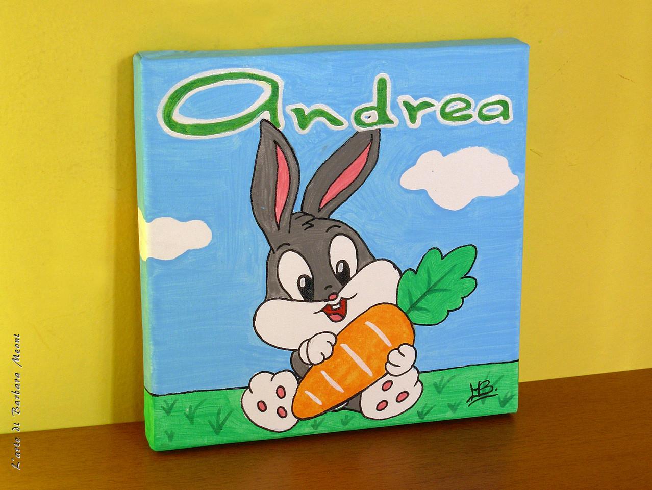 Bugs Bunny-Acrilico su tela 20x20 cm