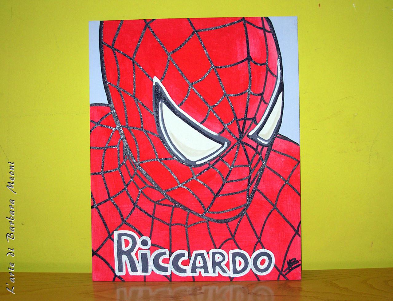 Spiderman-Acrilico su cartone telato 24x30 cm