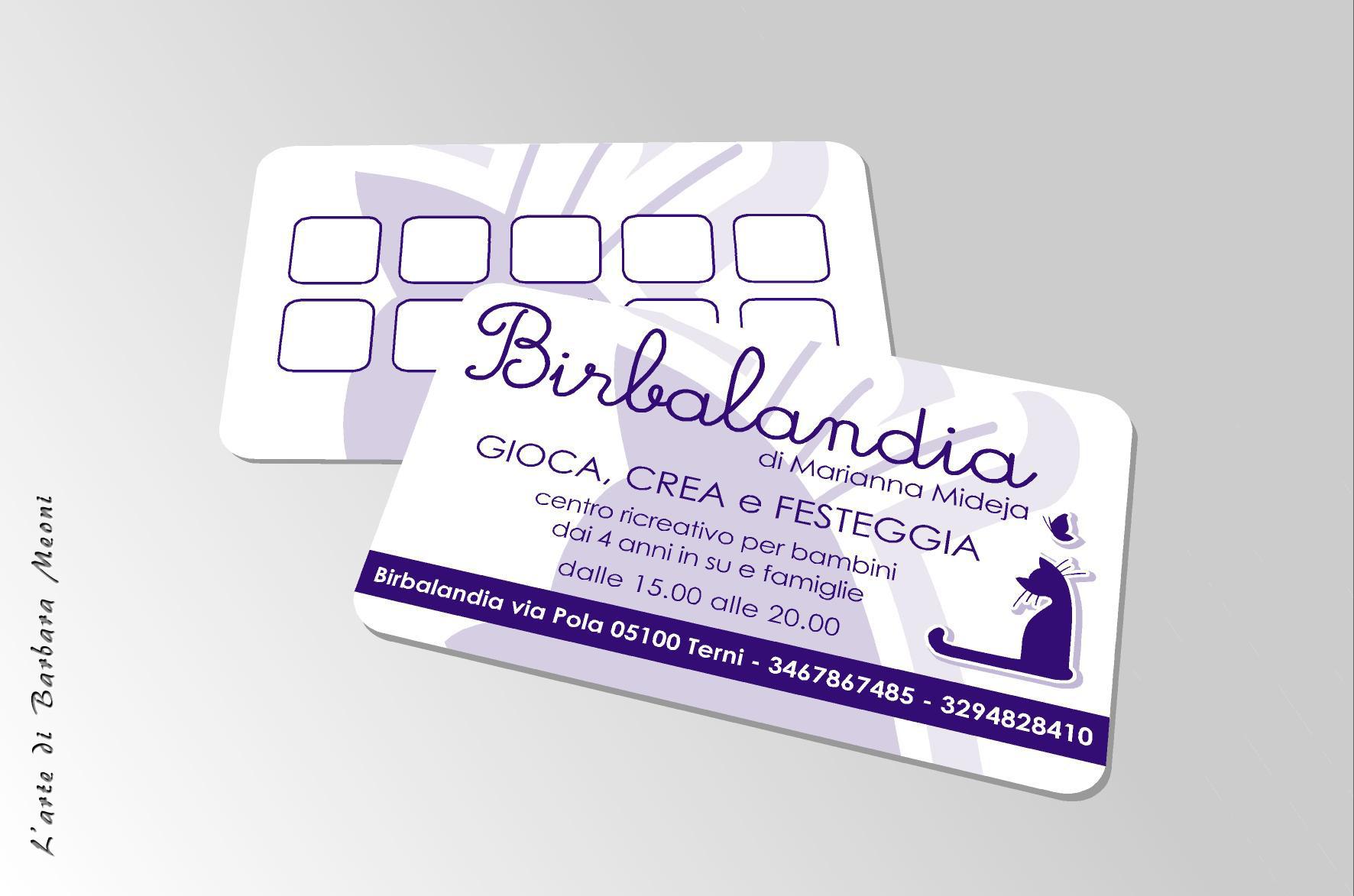 Cartolina Birbalandia - Centro ricreativo per bambini e famiglie