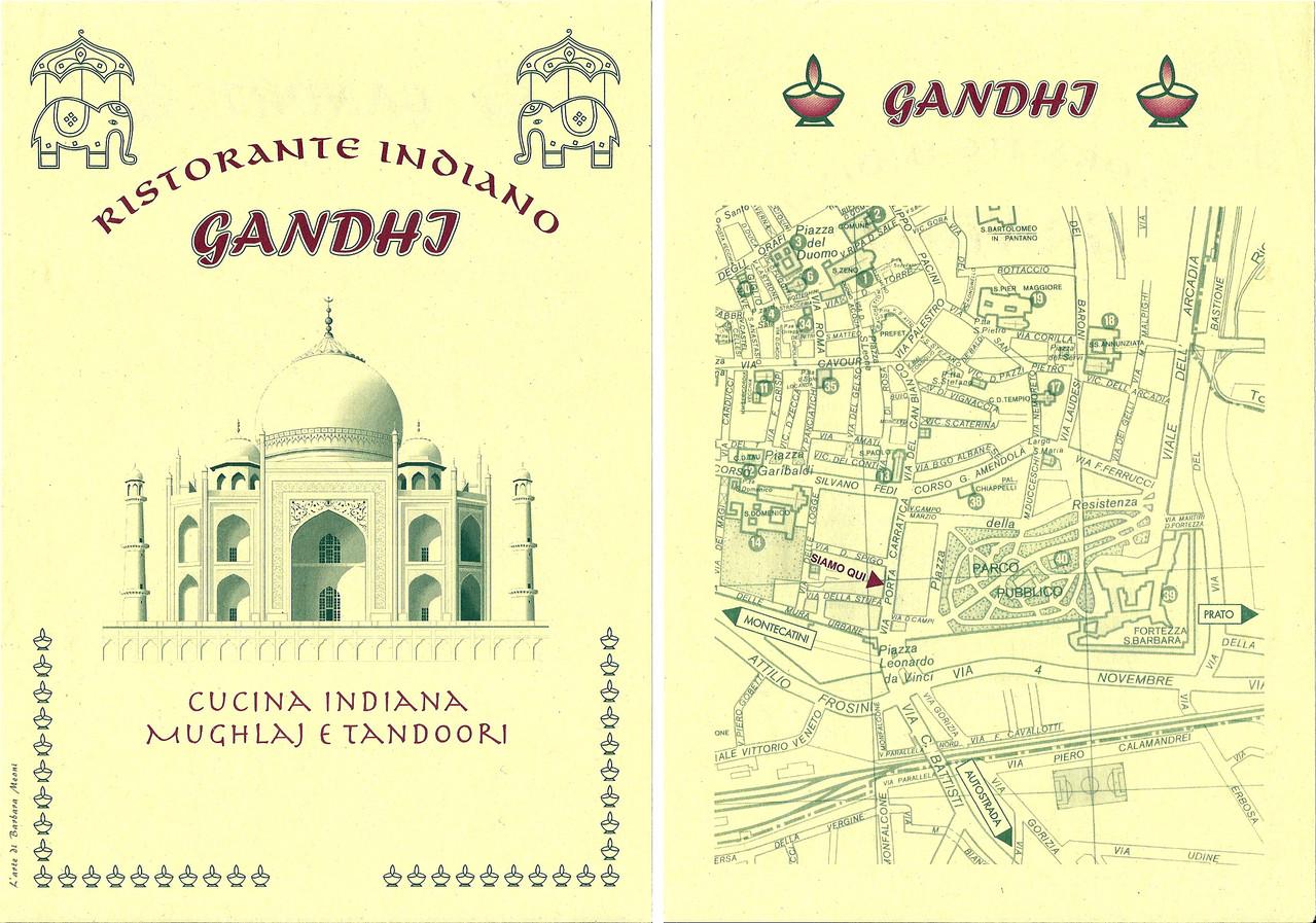 Volantino Gandhi - Ristorante indiano