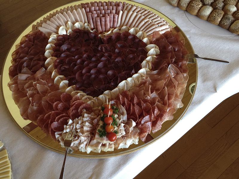 Fleischplatte Herz