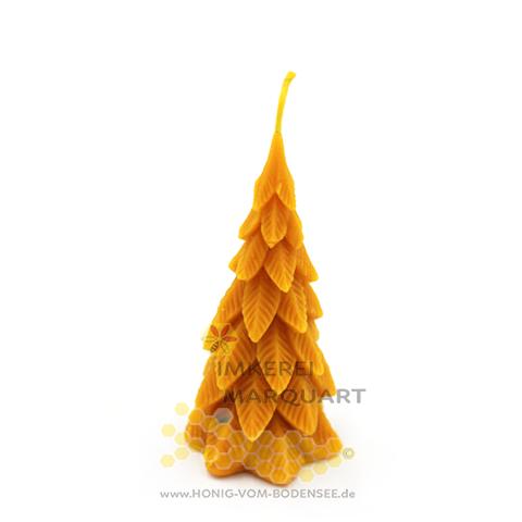 Weihnachtskerze Tannenbaum - Kerze aus echtem Bienenwachs