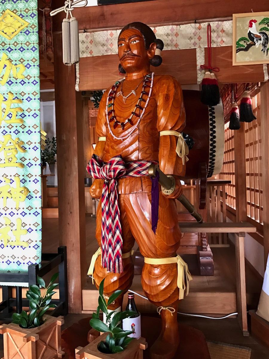 日本武尊木像